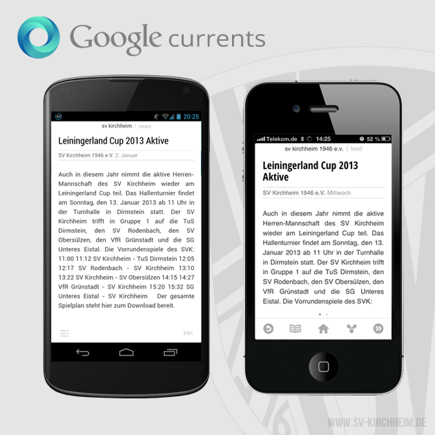 SV Kirchheim bei Google Currents
